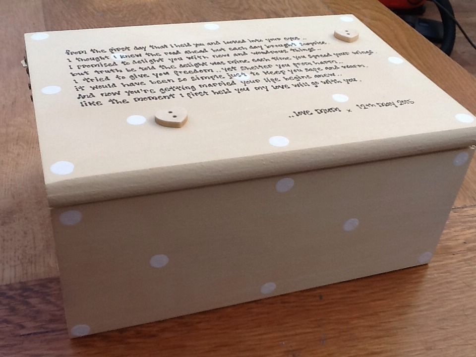 Shabby Personalised Chic Jewellery Box Gift For Daughter On Her